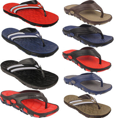 New Mens Beach Summer Holiday Flip Flop Toe Post Slippers Home Sandals Size Uk