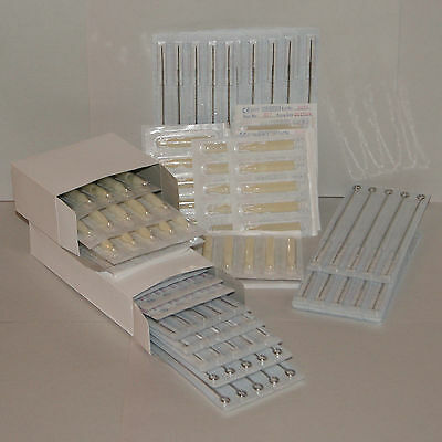 10 Disposable Tattoo Needle and 10 Matching Medium Taper Tips uMix