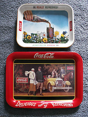 COCA-COLA TRAYS 1-BE REFRESHED PANZYS, 1-DELICIOUS SOLD EVERYWHERE ADVERT.