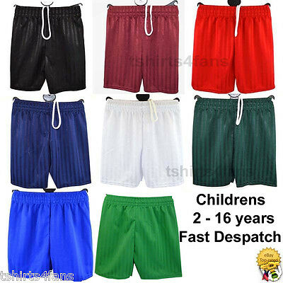 Boys Girls Childrens PE Games  Football Sports  Shorts  2  to 16 Years  Age