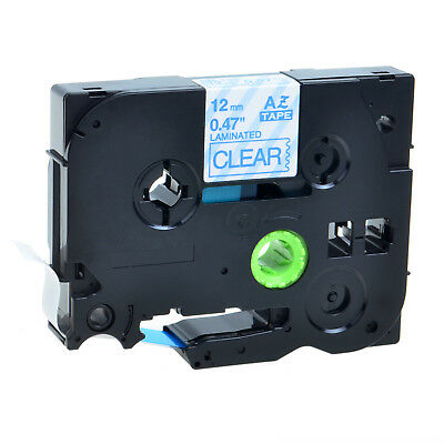 1 PK Blue on Clear Label Tape TZ TZe 133 Tze133 Compatible for Brother P-touch