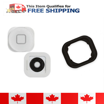 iPod Touch 5 5th Gen White Home Button With Rubber Gasket
