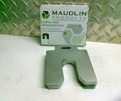 MAUDLIN PRODUCTS MSC075-10 Slotted Shim, C-4x4 Inx0.075In, Pk10