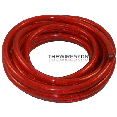 High Quality Car Audio Red 0 Gauge AWG 25' Feet Power/Ground Cable