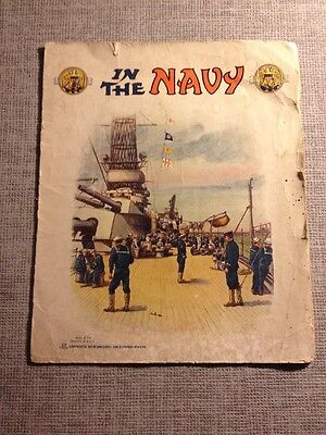 ☆ IN THE NAVY VTG  BOOK 1919 Rare ☆ Uncle Dick Billy Sam Gabriel NY No. 270 Art