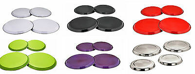 Zodiac 4 Pc Stainless Steel Coloured Hob Covers Metal Ring Electric Cooker Hob