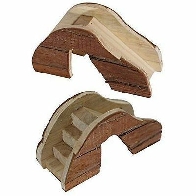Wooden Bridge with Steps & Slide for Hamsters Gerbils Mice Rats & Small Rodents