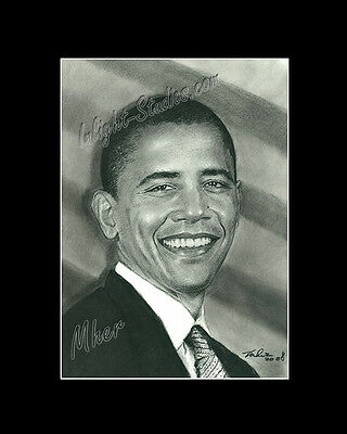 Barack Obama president of USA drawing from artist art Image picture