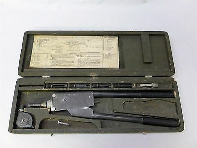 Vintage Cherry Rivet G-10 Hand Gun Kit In Mfg Wooden Storage Case