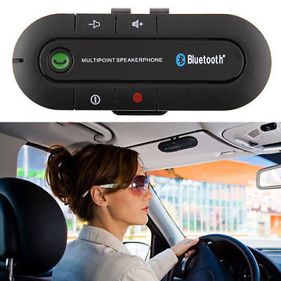 Bluetooth Handsfree Car Kit Wireless Speakerphone Mic Universal For Mobile Phone
