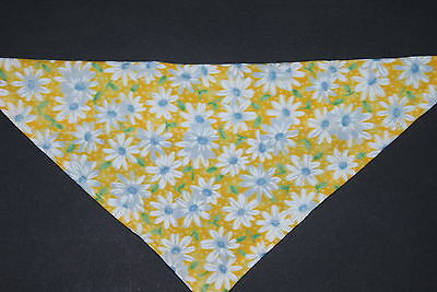 Dog Bandana, OVER THE COLLAR, scarf,clothes, Size S,M,L, Yellow Flowers!