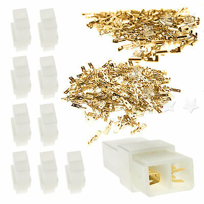 New 10 Kits 6.3mm 2 Way Pin Electrical Multi Plug Connector Terminal Block