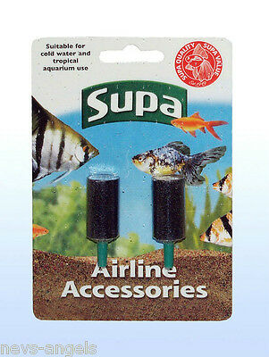 "Pack of 2 (1"") Air stones Aquarium Fish Tank Aeration 1"" Airstones Air Stone x2"