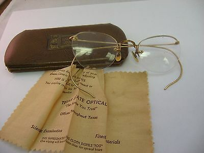Rare Texas State Optical Vintage High Quality Glasses 12K Gold Fill Nice Frames