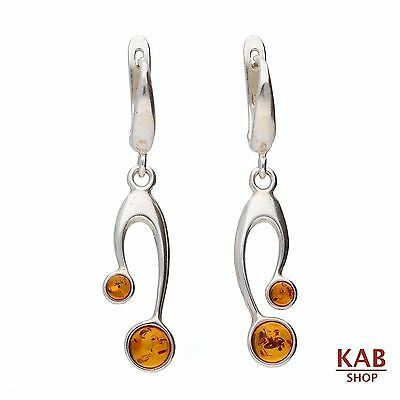 Baltic Amber Sterling Silver 925 Jewellery Earrings Beauty, Kab-45