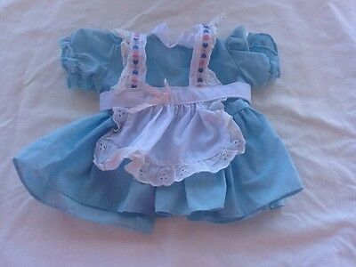 Cabbage patch clothes Holland Traveler Dutch Girl blue dress with apron