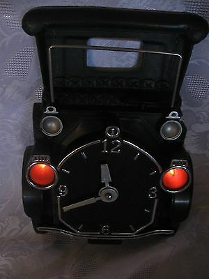 Vintage Mastercrafters M740 Old Jalopy Wall Clock With Headlights