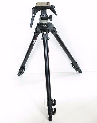 Manfrotto Bogen Professional 3221 Tripod with Bogen 3028 Head Italy Video Photo