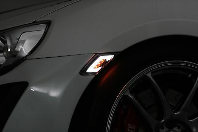 For 2017 Toyota 86 Scion Frs Subaru Brz Led Side Marker Clear Drl White