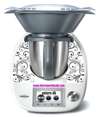Thermomix TM5 Sticker Decal  (Code: Pattern 35 White)