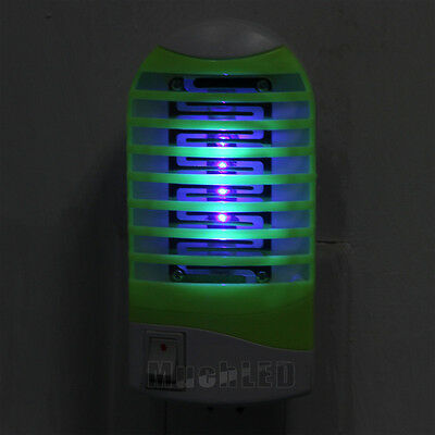 LED Socket Electric Mosquito Fly Bug Insect Trap Night Lamp Killer Zapper USA