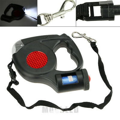 New 5M LED Automatic Retractable Pet Dog/Cat Puppy Traction Rope Walking Lead