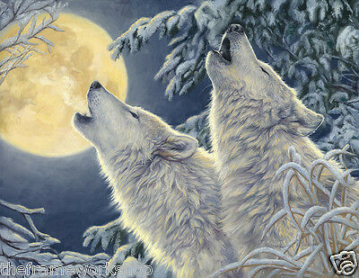 U.K MIDNIGHT WOLVES SELLER NEW 3D MOVING FLIP PICTURE 400mm x 300mm