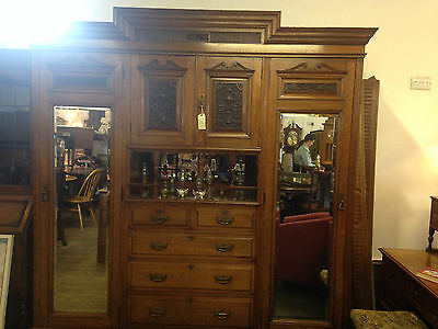 Magnificent Solid Walnut Compactum Robe Wardrobe
