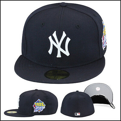 59509c090 New Era New York Yankees Fitted Hat Cap 1999 World Series Side Patch MLB  59fifty