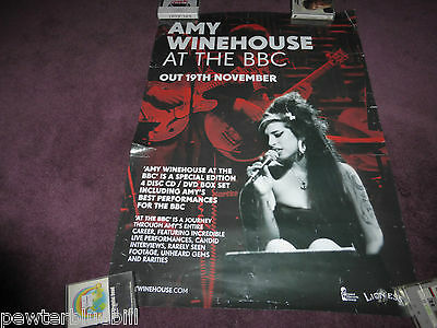 AMY WINEHOUSE Large PROMOTIONAL DOUBLE SIDED RECORD SHOP POSTER AT THE BBC