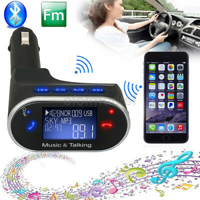 Wireless Bluetooth Fm Transmitter Car Mp3 LCD player + Remote SD USB Charger Kit
