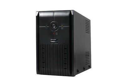 Powercool Smart UPS 850VA 2 x UK Plug, RJ45 x 2, USB LED Display