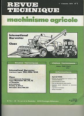 (103B) Revue Technique Agricole Tracteur International Harvester / Mb Claas