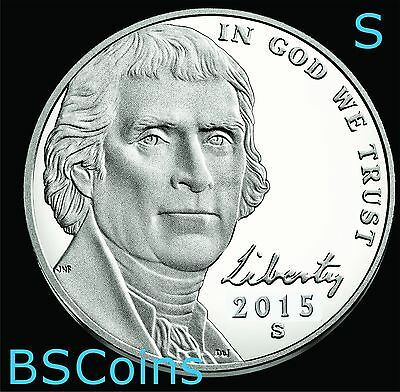 2015 S Jefferson PROOF Nickel Gem Deep Cameo - In Stock - Ship TODAY