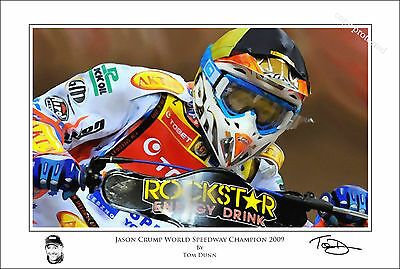 Jason Crump Art Print Signed and Numbered by Artist Tom Dunn. Ltd Edition COA