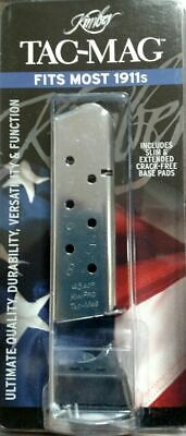 KIMBER 1911, 8 RD round Stainless Mag Magazine 45 ACP, KimPro Tac-Mag