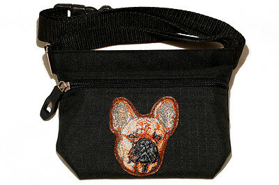 Embroidered Dog treat pouch/bag - for dog shows. Breed - French Bulldog