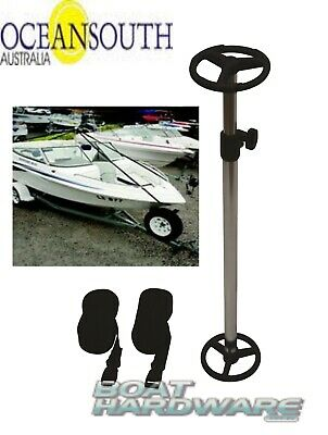 SUPPORT POLE for BOAT COVER Telescopic to 1220mm Adjustable Straps Oceansouth
