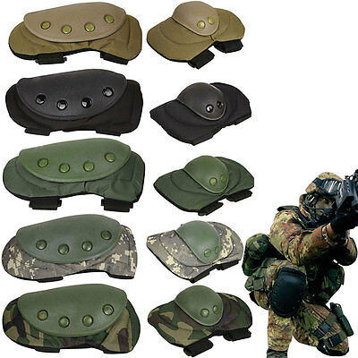 Adjustable Airsoft Tactical MTP Combat Work Protective Knee and Elbow Pad Skate
