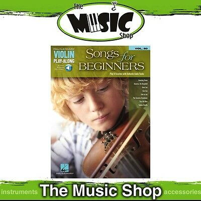 New Songs for Beginners Violin Play Along Book & OLA - Volume 50
