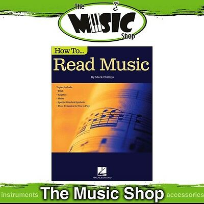 New How to Read Music Tuition Book - Music Theory by Mark Phillips
