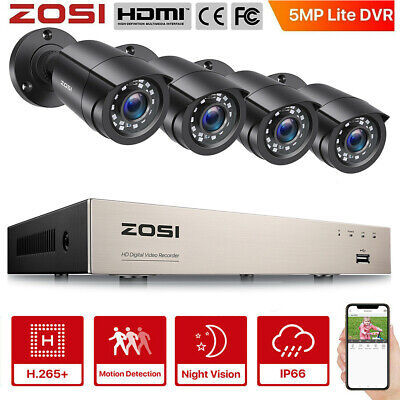 ZOSI 720P 4CH HDMI DVR 1500TVL 24 Led Day Night CCTV Security Camera System Kit