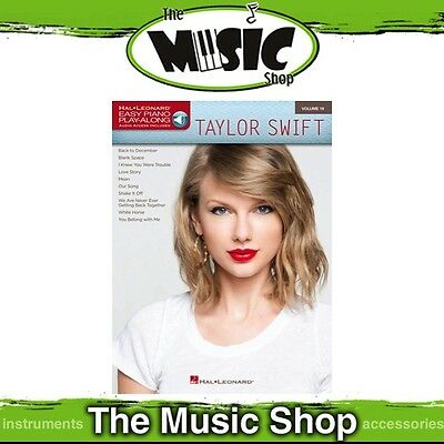 New Taylor Swift Easy Piano Play Along Music Book & OLA - Volume 19