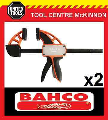 "2  x BAHCO QCB-300 12"" / 300mm QUICK CLAMP – 200kg CLAMPING FORCE"