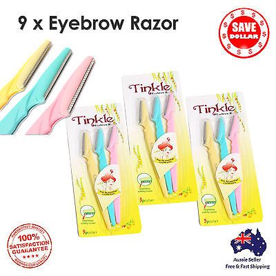 9p Facial Eyebrow Razor Trimmer Shaper Shaver Blade Knife Hair Remover Tinkle