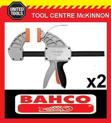 "2 x BAHCO SUPERIOR QCS-300 12"" / 300mm QUICK CLAMP – 300kg CLAMPING FORCE"
