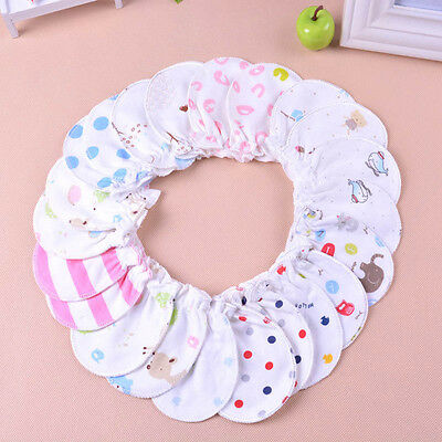 6pcs Newborn Baby Infant Soft Cotton Handguard Anti Scratch Mittens Gloves