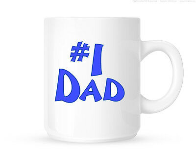 Number One Dad Personalised Fathers Day Mug Gift Dad Daddy Birthday Christmas