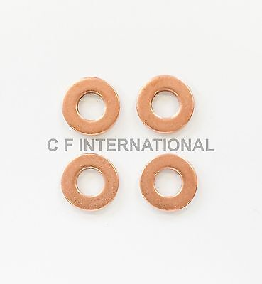 FORD FOCUS 1.6 TDCi COMMON RAIL DIESEL BOSCH INJECTOR WASHER SEAL X 4