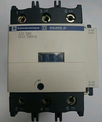 Telemecanique/Square D TeSys Contactor 80A 110V 50/60Hz AC Rated Coil